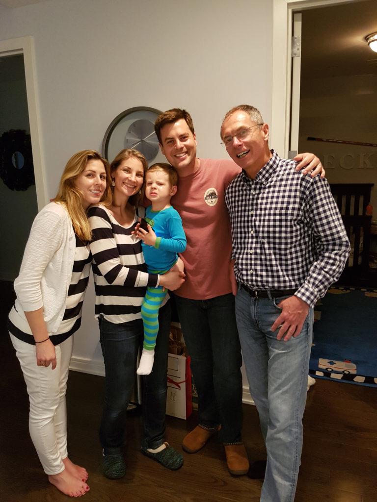 2016, s rodinou