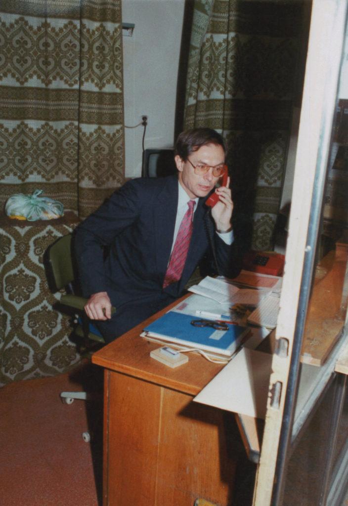 Jan Švejnar, zakládající ředitel při prvním telefonátu