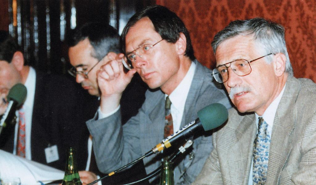 Nicholas Stern, Jan Švejnar, Václav Klaus