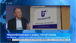 Studio ČT24: Nezaměstnanost v srpnu 2017